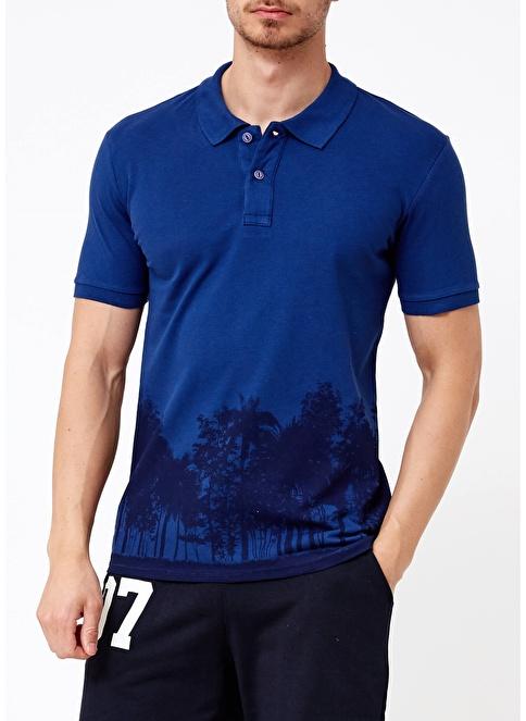 Phazz Brand Polo Yaka Tişört İndigo